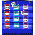 Sight Word Hide & Seek Pocket Chart Cards | Painting Theme