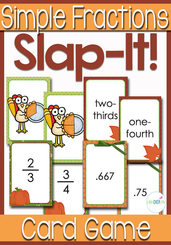 This simple fraction card game is a fun way to learn about equivalent fractions. The kids will love the pumpkin pie theme!