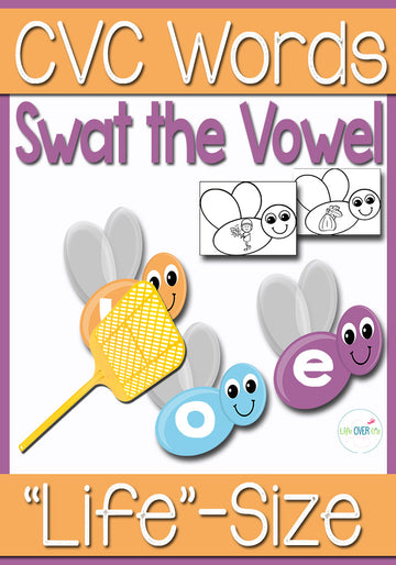 Short Vowel Review Game: Swat the Vowel