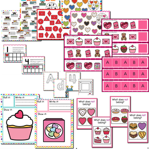 Valentine Themed Preschool/Pre-K Math and Literacy Centers
