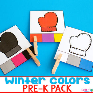 Winter Colors Pre-K Activity Set