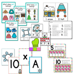 Preschool/ Pre-K Math & Literacy Centers Bundle 1 | Holidays and Seasons