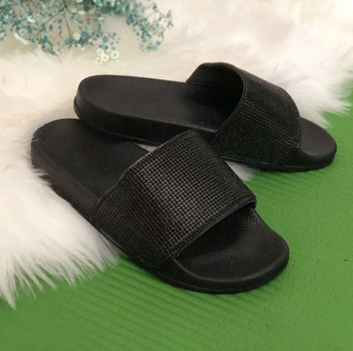 afec32ad8 ... Rhinestone Women Slippers Flip Flops Summer Women Crystal Diamond Bling  Beach Slides Sandals Casual Shoes Slip ...