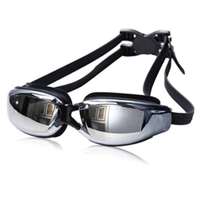 Adjustable Anti-Fog Swimming Goggles - Black - Water Sports
