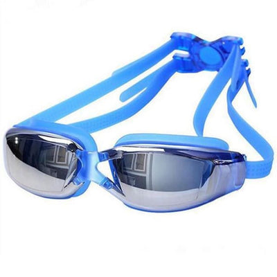 Adjustable Anti-Fog Swimming Goggles - Blue - Water Sports