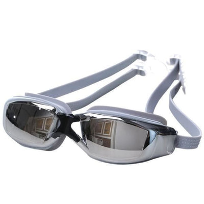 Adjustable Anti-Fog Swimming Goggles - Grey - Water Sports
