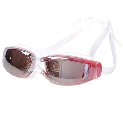 Adjustable Anti-Fog Swimming Goggles - Pink - Water Sports