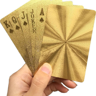 Black Diamond Playing Cards - Gold
