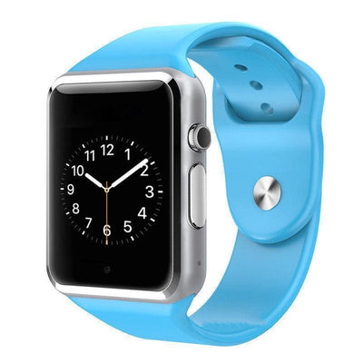 Bluetooth Smart Watch With Camera - A1 Blue
