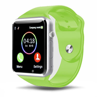 Bluetooth Smart Watch With Camera - A1 Green