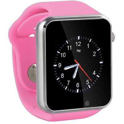 Bluetooth Smart Watch With Camera - A1 Pink