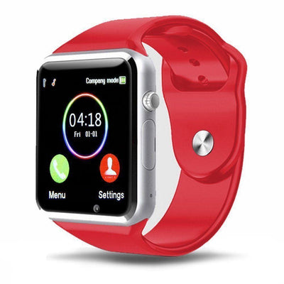 Bluetooth Smart Watch With Camera - A1 Red