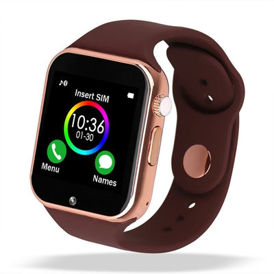Bluetooth Smart Watch With Camera - A1 Rose Gold