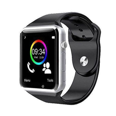 Bluetooth Smart Watch With Camera - A1 Silver