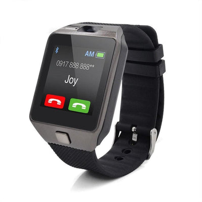 Bluetooth Smart Watch With Camera - Black