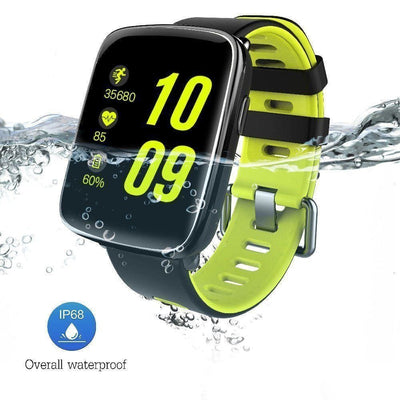 Bluetooth Smart Watch With Camera - Gv68 Black/green