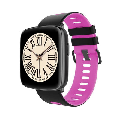 Bluetooth Smart Watch With Camera - Gv68 Black/pink