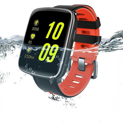 Bluetooth Smart Watch With Camera - Gv68 Black/red