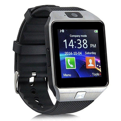 Bluetooth Smart Watch With Camera - Silver