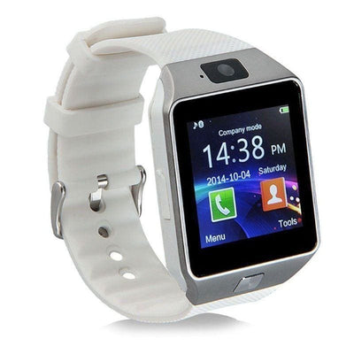 Bluetooth Smart Watch With Camera - White