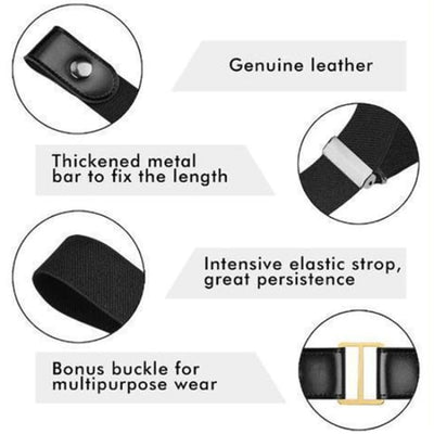 Buckle-Free Adjustable Belt - Clothes & Accessories