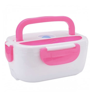 Electric Lunch Box Heater - Pink / 12V Car Plug