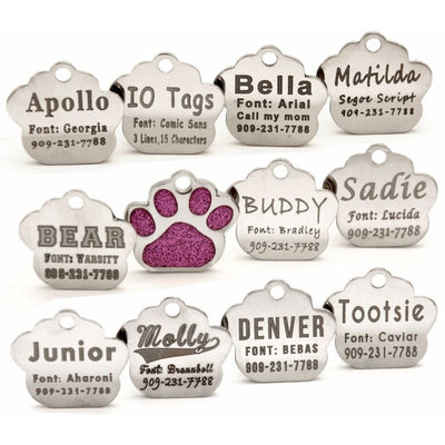 Glitter Paw Custom Pet Id Tags