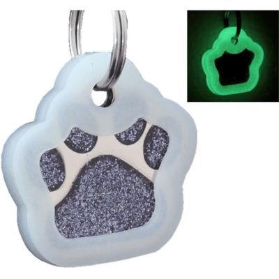 Glitter Paw Custom Pet Id Tags - Black + Silencer