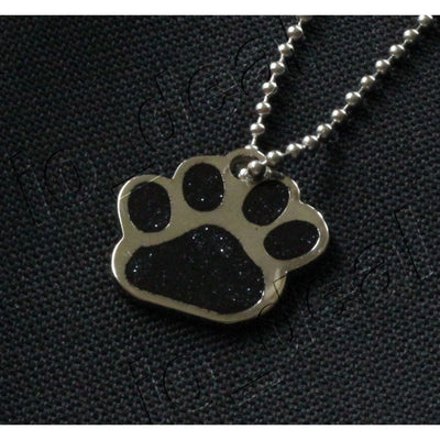 Glitter Paw Custom Pet Id Tags - Galaxy Black