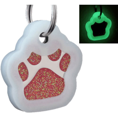 Glitter Paw Custom Pet Id Tags - Rose + Silencer