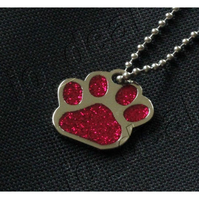 Glitter Paw Custom Pet Id Tags - Ruby