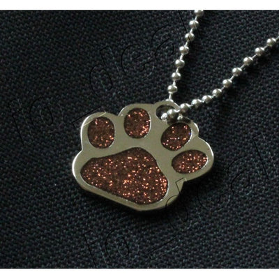 Glitter Paw Custom Pet Id Tags - Toffee Brown