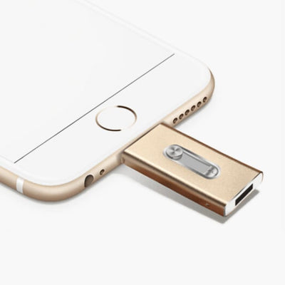 Ios Flash Usb Drive For Iphone & Ipad - Gold / 8Gb