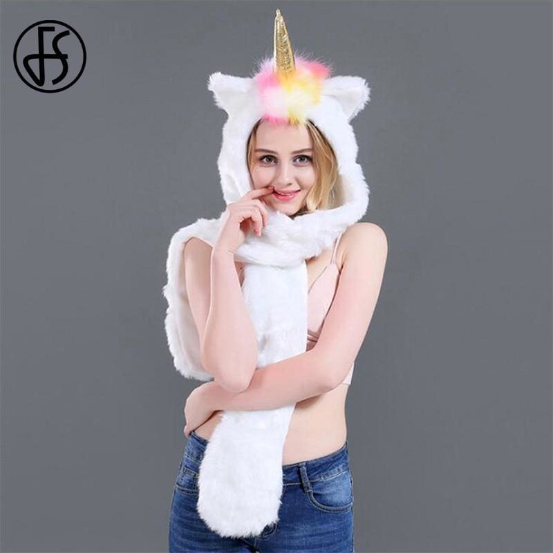 Led Unicorn Scarf With Pocket