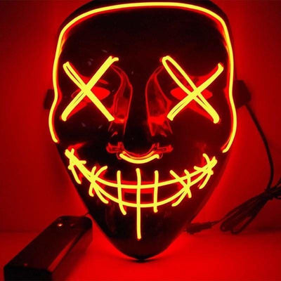 Nightcore Led Power Stitches Night Huntsman Purge Mask - Red - Led Mask