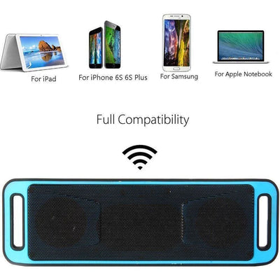 Portable And Rechargeable Wireless Bluetooth Speaker - Blue / Wireless Speaker