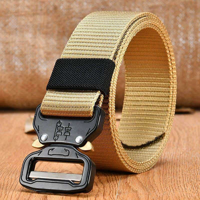 Tactical Buckle Belt (Heavy Duty) - 48 Khaki