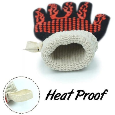 Thick Silicone Heat Resistant Barbecue Oven Gloves - Heat Resistant Oven Gloves