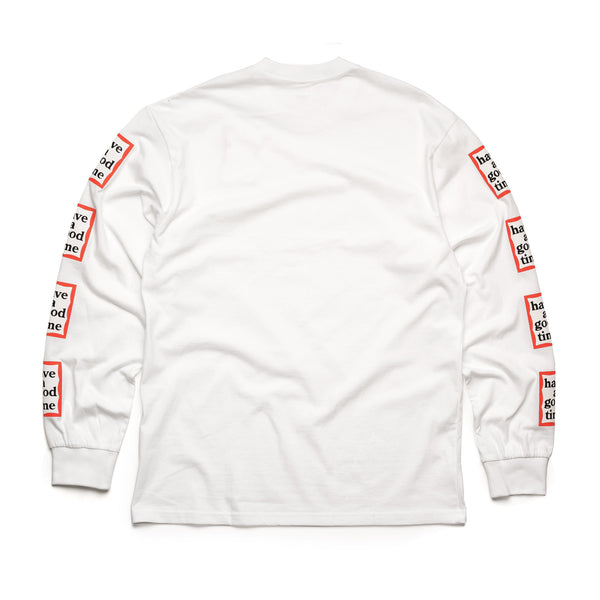 Arm Frame L/S Tee - White