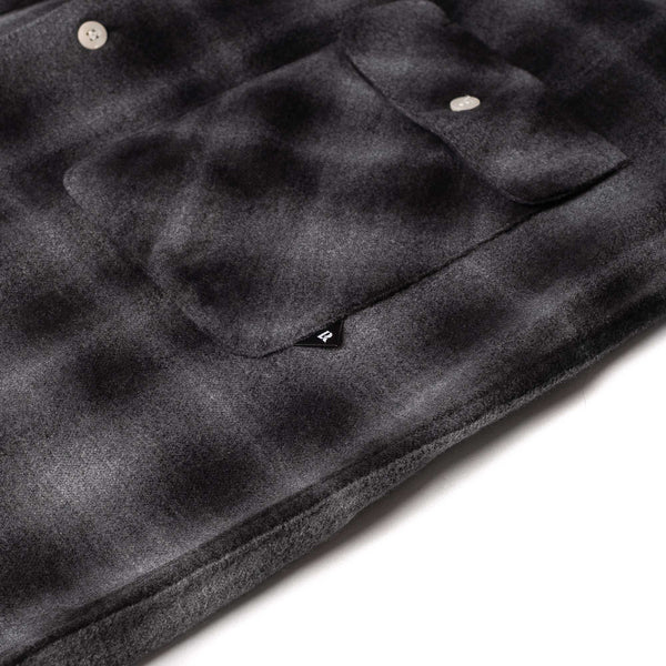 Plaid Flannel Shirt - Black