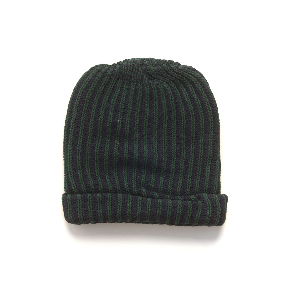 Logo Patch Beanie - Navy/Forest