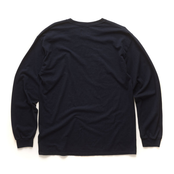 Infected Logo Long Sleeve - Navy
