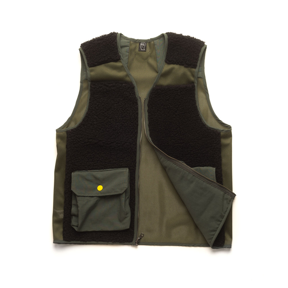 Fisherman Vest - Olive/Black