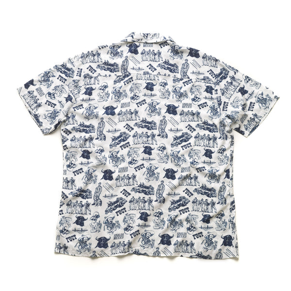Smuggler Aloha S/S Top - White/Navy