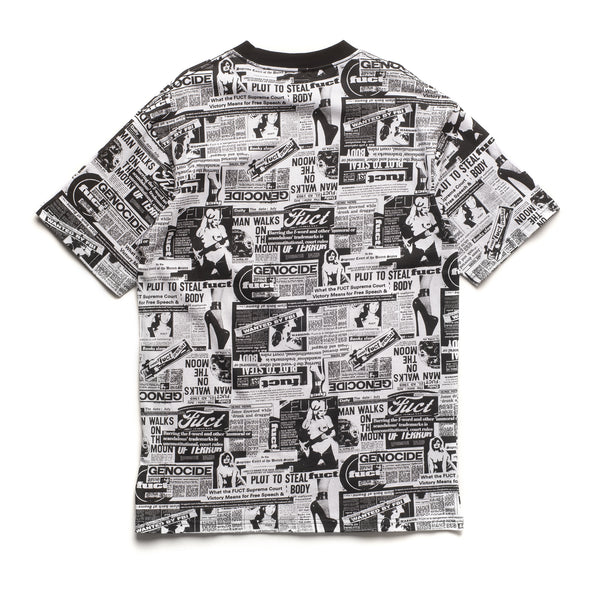 Newsprint T-Shirt - Black/White