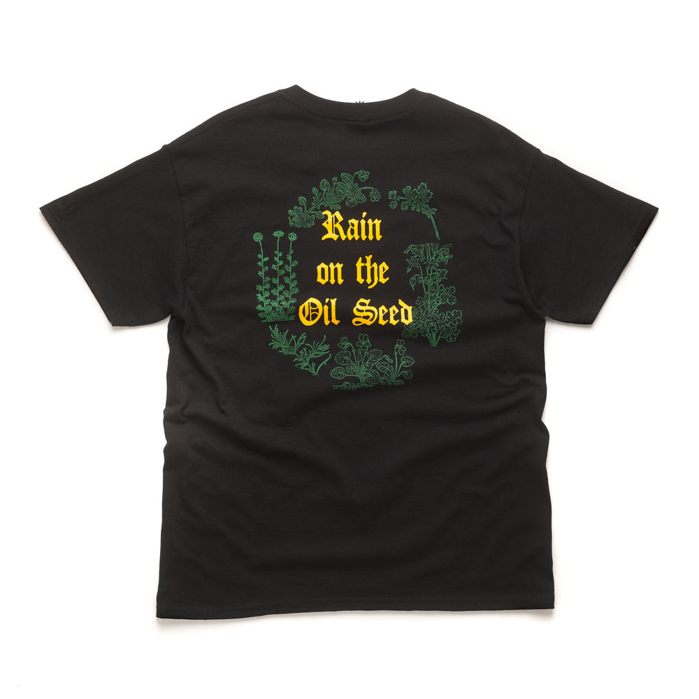Rain On The Oil Seed S/S Tee - Black