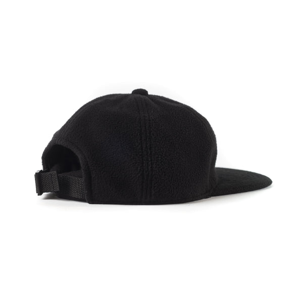 Fleece 6 Panel Cap - Black