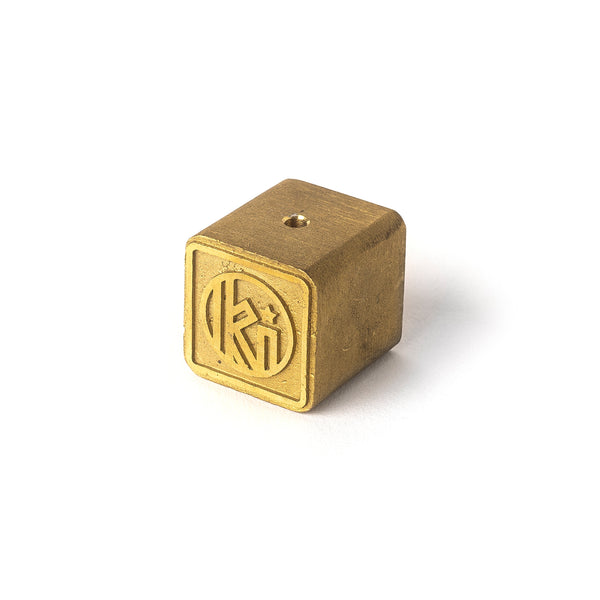 Qube Type Incense Burner - Brass