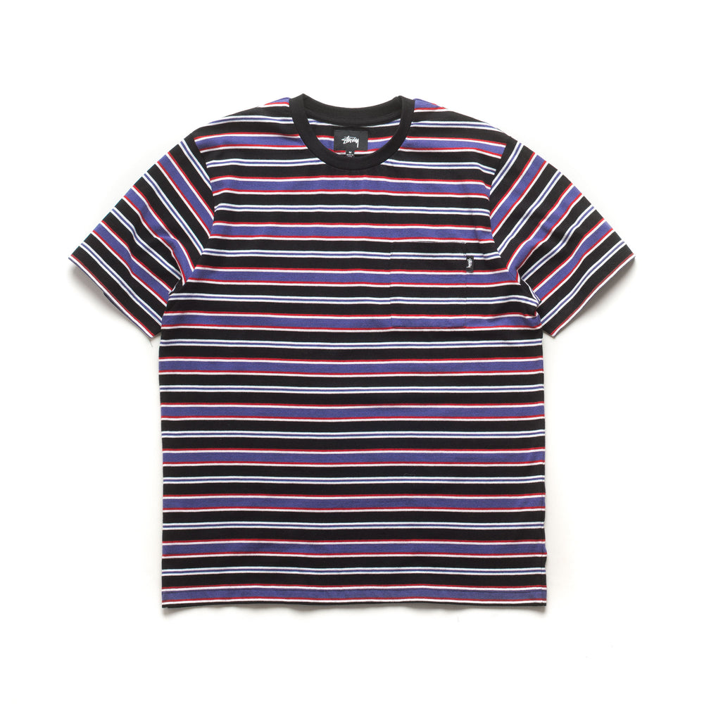 Dennis Stripe Crew - Black