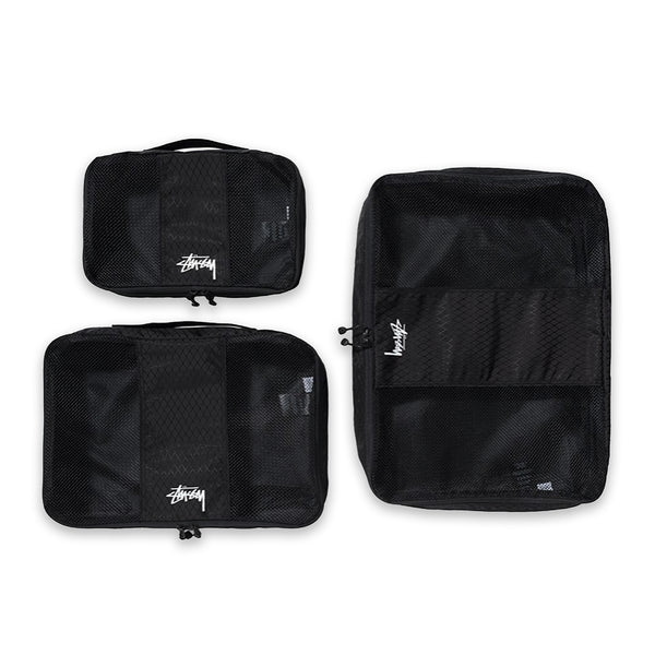 Diamond Ripstop Packing Cubes - Black